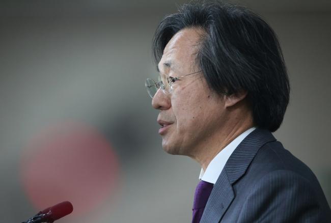 KCDC director Jung Ki-suk speaks at a press conference in Sejong City, Tuesday. (Yonhap)