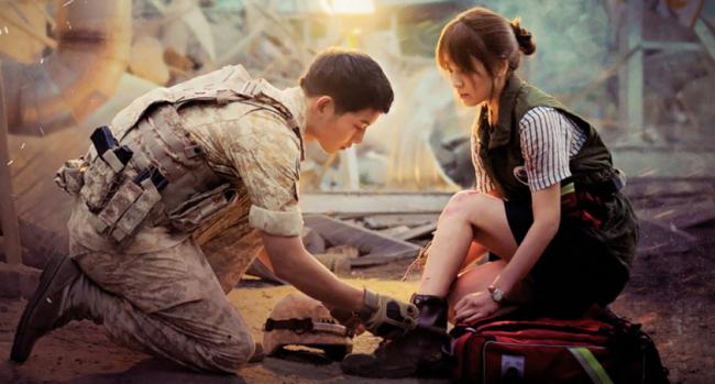 "Screen capture of KBS2 drama series ""Descendants of the Sun"" (KBS2)"
