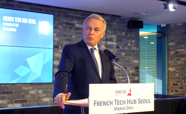 Jean-Marc Ayrault, French minister of foreign Affairs and international development. (Joel Lee / The Korea Herald)