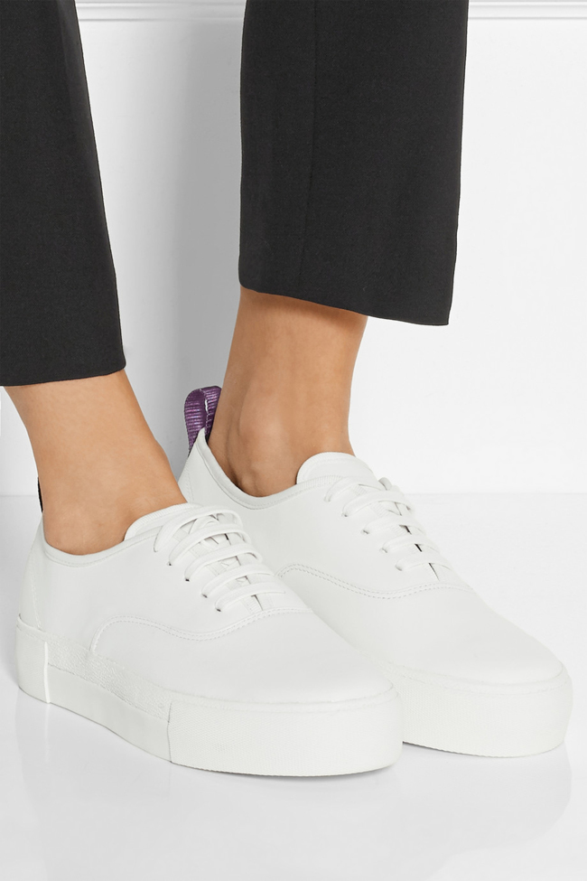 EYTYS white leather sneakers. $235 at Net-a-Porter.com. (Net-a-Porter/TNS)