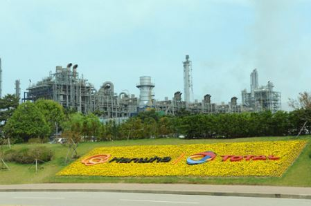 The chemical complex of Hanwha Total, located in Daesan, South Chungcheong Province.
