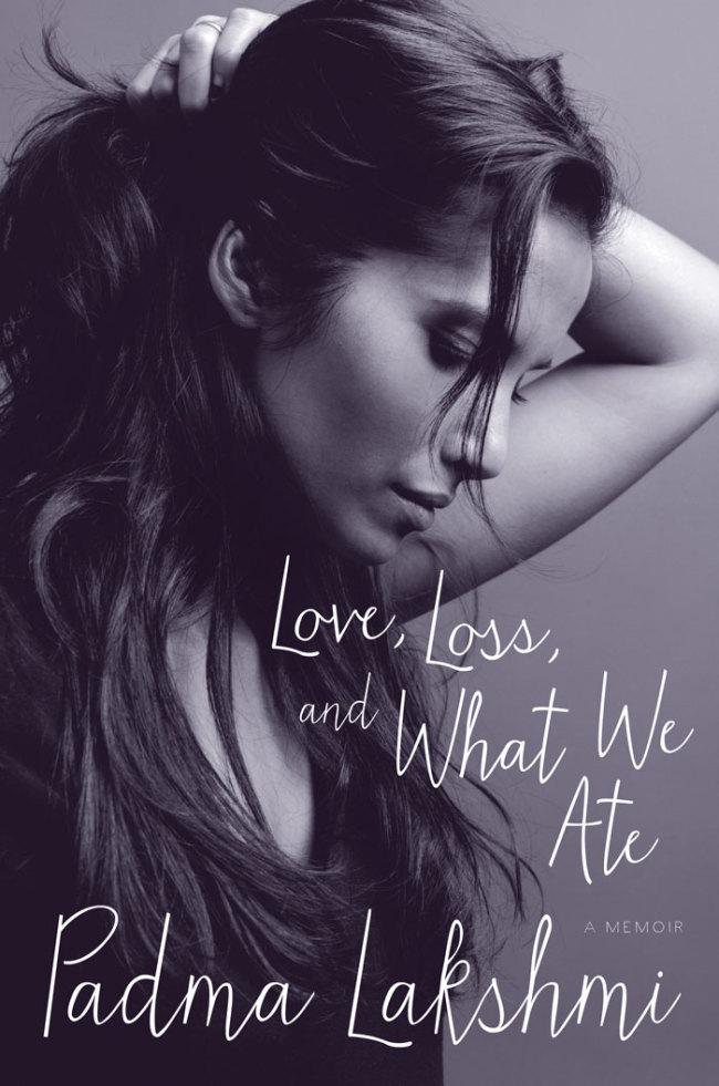 """The cover of Padma Lakshmi's book, """"Love, Loss, and What We Ate: A Memoir"""" (Ecco)"""