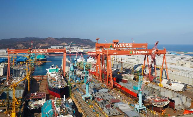 Hyundai Heavy's shipyard