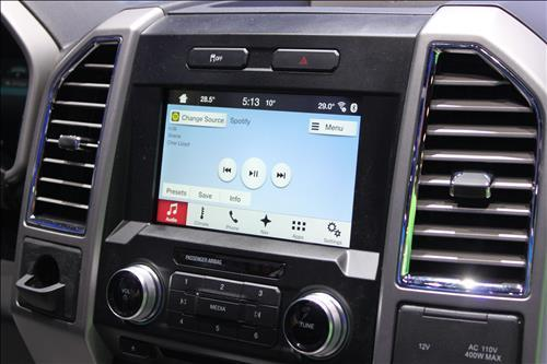 A car infotainment system installed in a car. (Yonhap)