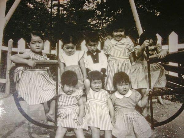 Katherine Kim Bradtke (far right), at age 2 or 3, at an orphanage in Korea before she was sent to the U.S. for adoption in 1961. (Katherine Kim Bradtke)