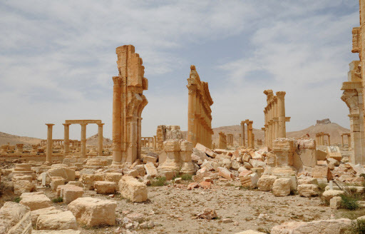 A handout picture released by the official Syrian Arab News Agency on Wednesday shows a general view of the heritage site of Palmyra. (AFP-Yonhap)