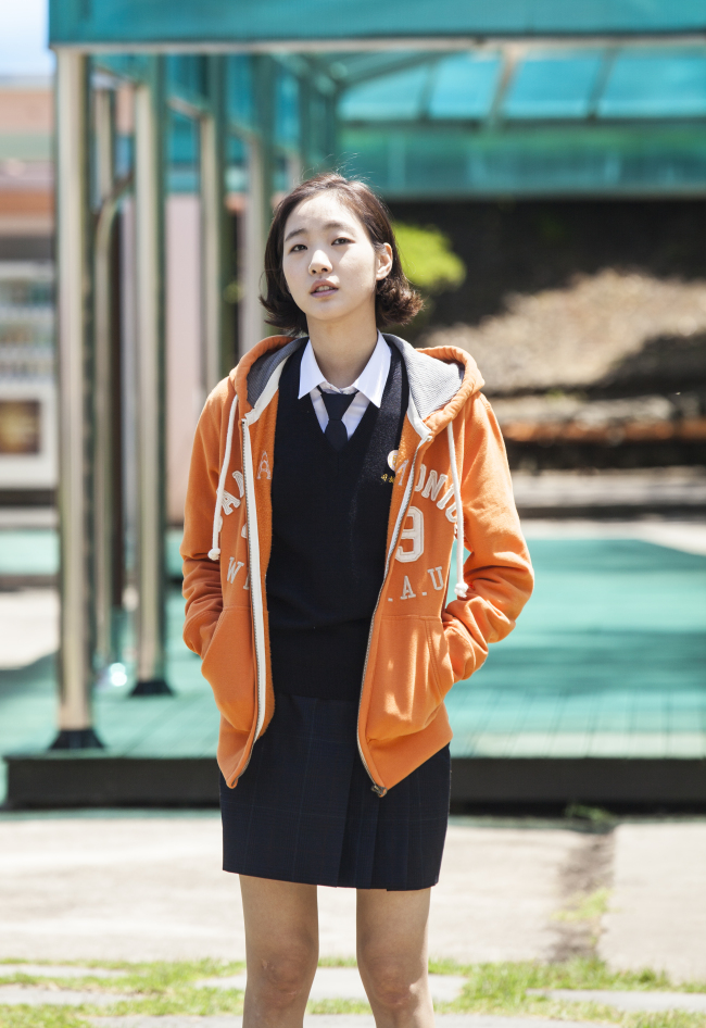 "Actress Kim Go-eun plays the granddaughter Hye-ji in ""Canola."" (Contents Nandakinda)"