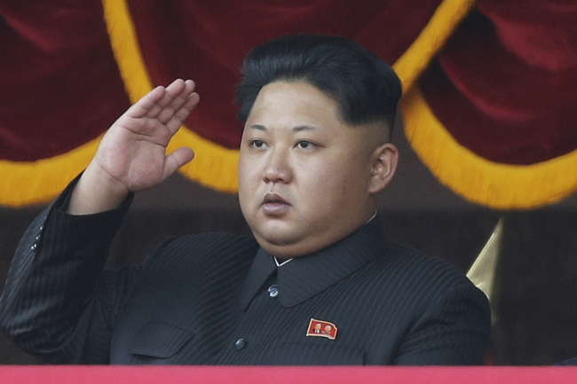 In this Oct. 10, 2015, file photo, North Korean leader Kim Jong Un salutes at a parade in Pyongyang, North Korea. North Korea on Friday, May 6, 2016, opened the first full congress of its ruling party since 1980, a major political event intended to showcase the country's stability and unity under leader Kim Jong Un despite international criticism and tough new sanctions over the North's recent nuclear test and a slew of missile launches. (Yonhap)