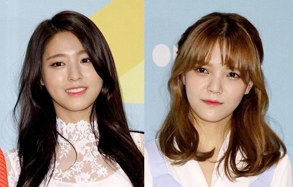 Seolhyun, Jimin of AOA (Herald Pop)
