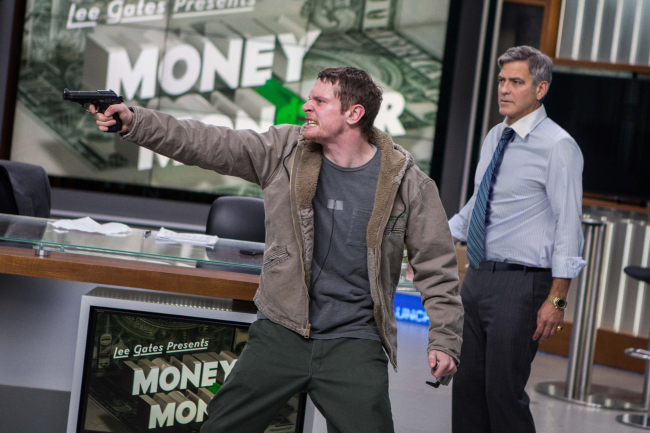 "Jack O'Connell and George Clooney in ""Money Monster."" (Sony Pictures/TNS)"