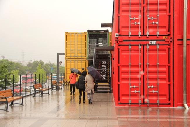Exterior view of the new Platform Changdong 61 arts complex in Dobong-gu. (Julie Jackson/The Korea Herald)