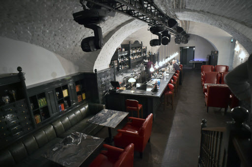 A picture taken on April 13 shows a view of Aragvi restaurant in Moscow. (AFP-Yonhap)