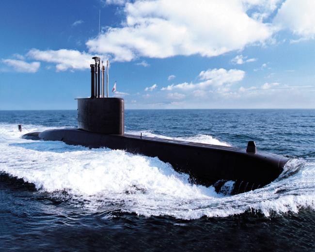 South Korean Navy's 209-class submarine / Daewoo Shipbuilding and Marine Engineering Co.