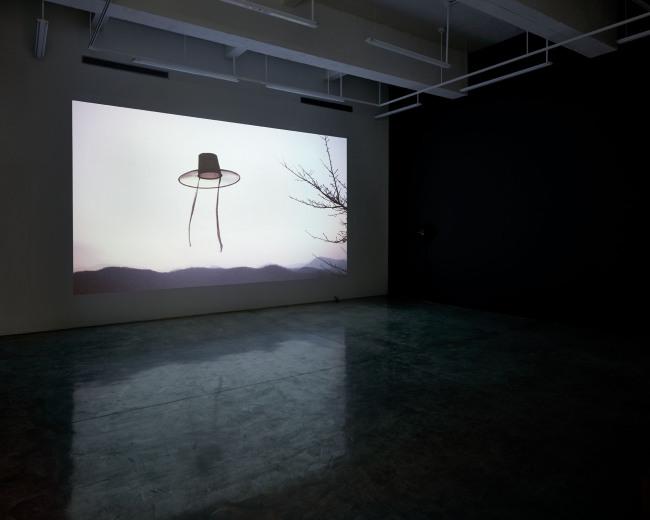 "Installation view of 33-minute film ""Night Fishing,"" by Park Chan-kyong at Tina Kim Gallery (Jeremy Haik/Tina Kim Gallery)"