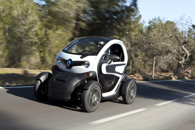 Renault Samsung's ultramini electric vehicle Twizy (Renault Samsung)