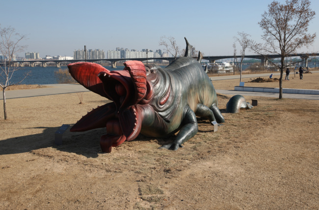A monster sculpture in Yeouido Hangang Park Seoul Metropolitan Government