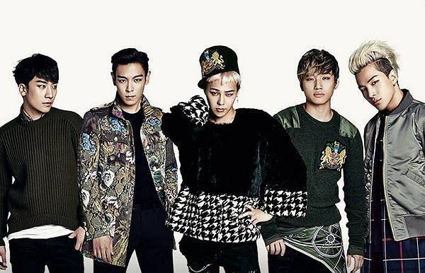 K-pop boy band Big Bang (YG Entertainment)