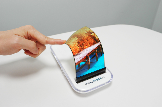 Samsung Display will showcase a flexible display at the SID 2016, an annual display trade show to be held in San Francisco from Tuesday to Thursday. (Samsung Display)