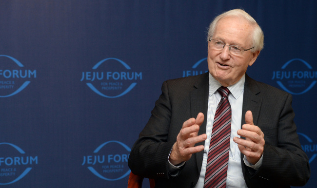 Former prime minister of New Zealand Jim Bolger (Ahn Hoon/The Korea Herald)