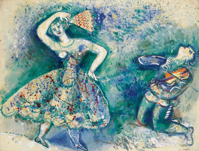 """La Danse"" by Marc Chagall (ⓒ Marc Chagall / ADAGP, Paris)"