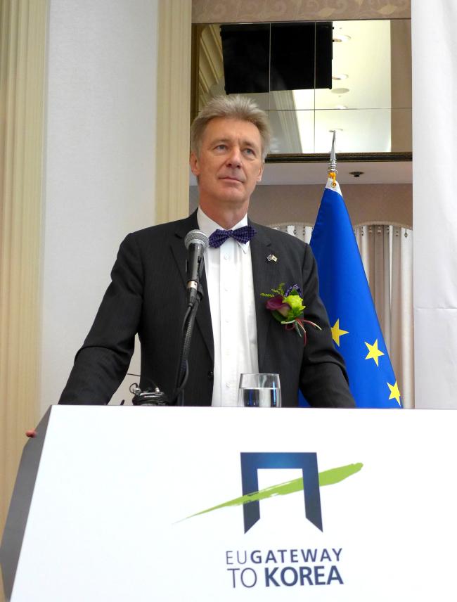 European Union Ambassador Gerhard Sabathil (Joel Lee / The Korea Herald)