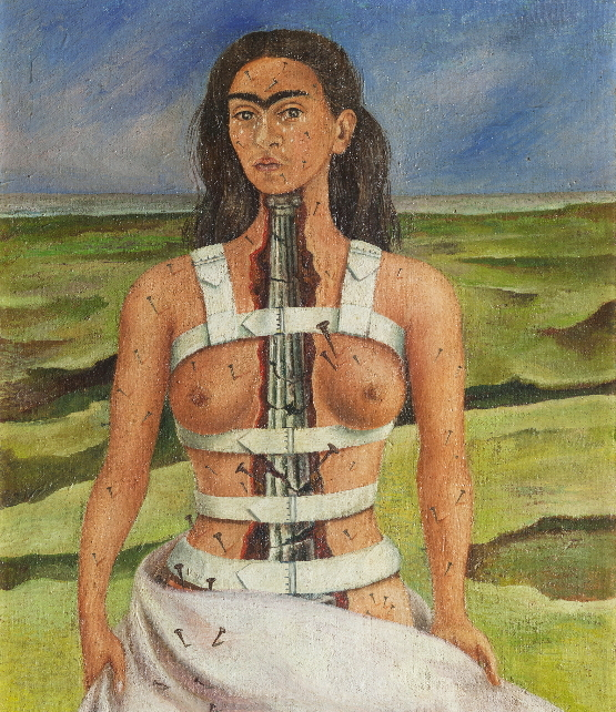 """The Broken Column"" by Frida Kahlo (ⓒ2016 Banco de Mexico, Frida Kahlo & Diego Rivera Museums Trust)"