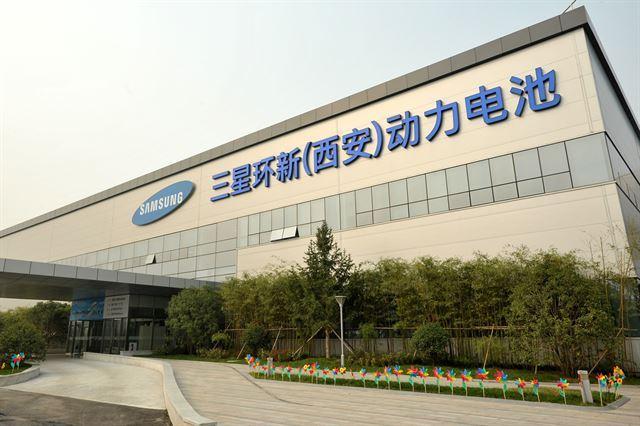 Samsung SDI's EV battery plant in Xian, China