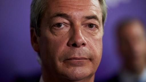 UK Independence Party (UKIP) leader Nigel Farage in London on June 22, 2016 (AFP/Niklas Hallen)