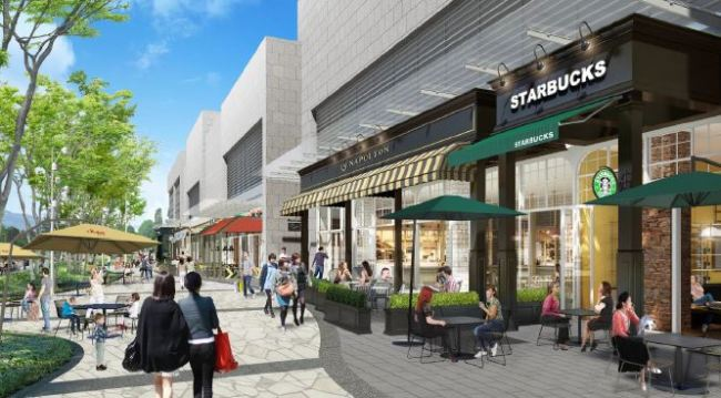 An outdoor dining street at StarfieldHanam(Shinsegae Group)