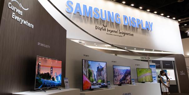 Samsung Display's exhibition venue at a display trade show / Samsung Display