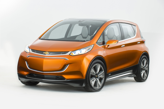 GM's first full-electric car Chevrolet Bolt that is powered by LG Chem batteries