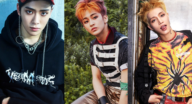Three of NCT 127's six members Jaehyun, Mark and Taeil (SM Entertainment)