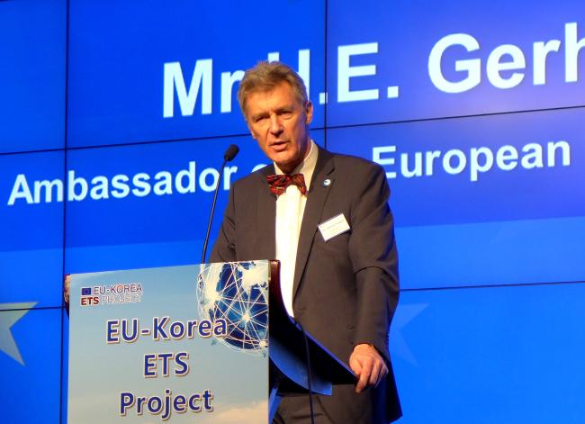 EU Ambassador Gerhard Sabathil (Joel Lee / The Korea Herald)