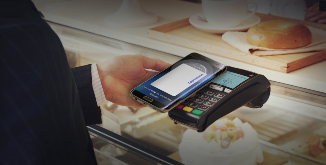 Samsung Electronics' mobile payment solution Samsung Pay. Samsung Electronics