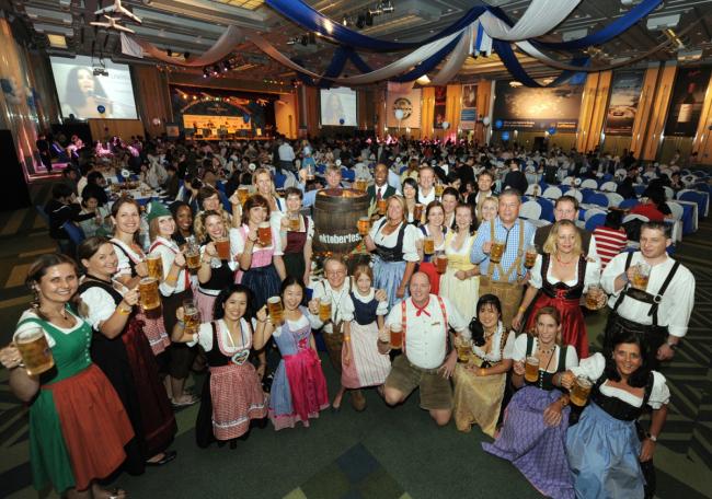A scene from the Grand Hilton Seoul's annual Oktoberfest. (Grand Hilton Seoul)