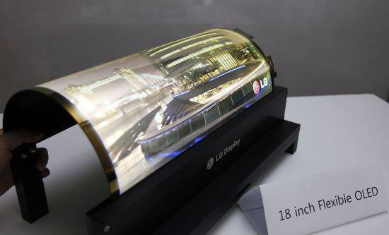 LG Display's OLED display. LG Display