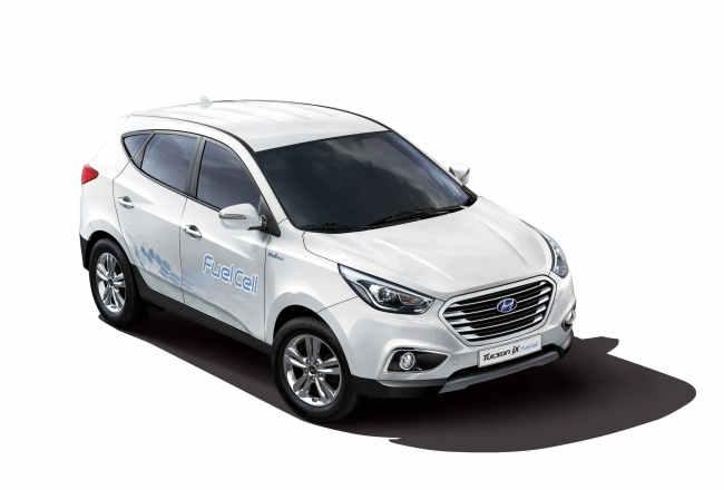 Hyundai Motor`s fuel-cell Tucson ix