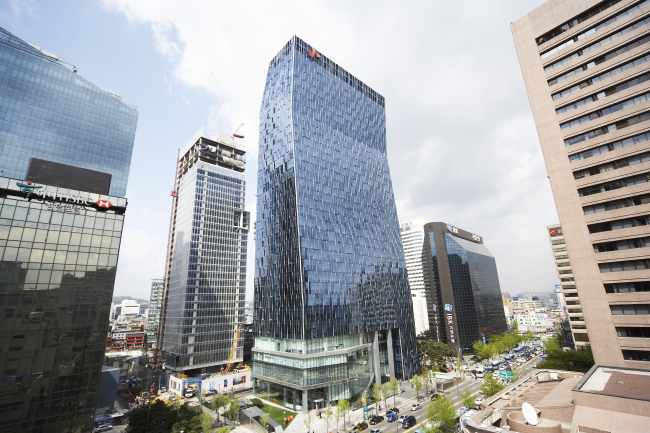 The head office of SK Telecom in Seoul