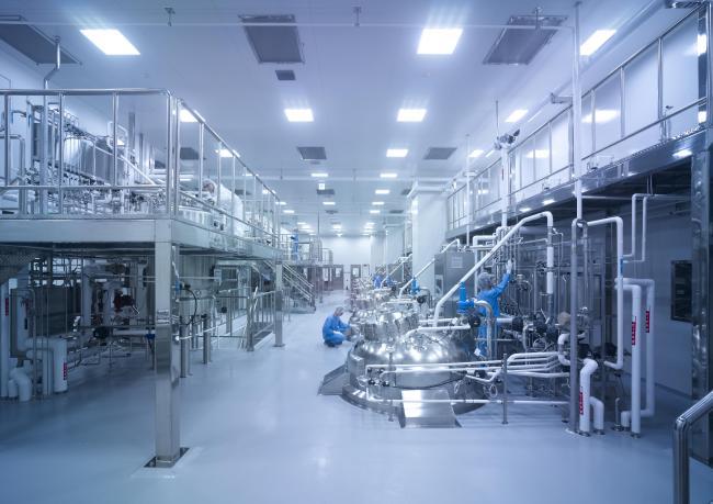 A Samsung BioLogics plant in Songdo, Incheon