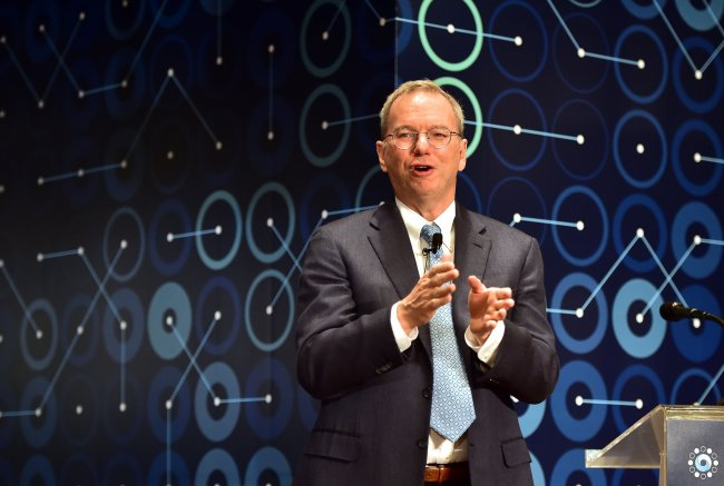 Eric Schmidt, executive chairman of Alphabet, the parent company of Google, visited Seoul in March to watch the human-AI Go match. The Investor