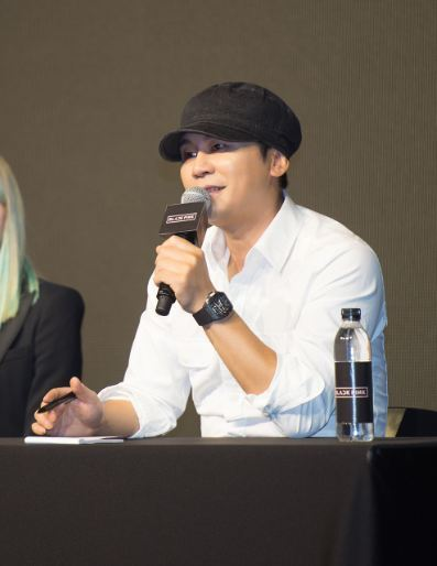 Yang Hyun-suk, YG Entertainment's founder and executive director, speaks at a press conference in Nonhyeon-dong, Seoul, on Monday. (YG Entertainment)