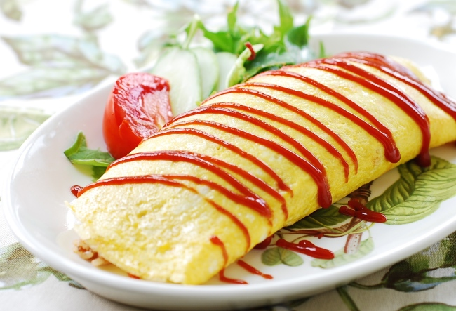 Omurice (Korean Bapsang)