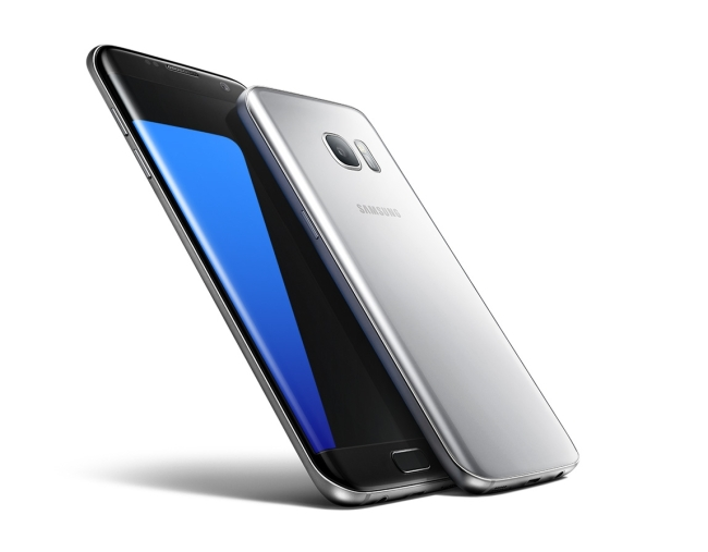 The Samsung Galaxy S7 Edge uses flexible OLED to feature a curved display screen. The curvy model has outsold its flat-screen sibling. Samsung Electronics