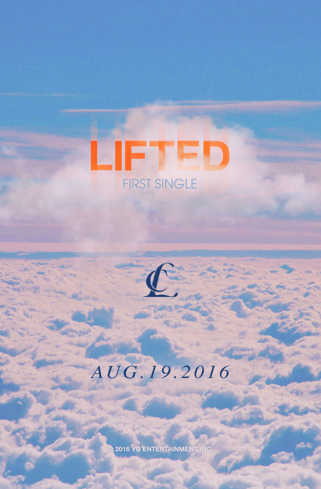 """Promotional poster for singer-songwriter CL's upcoming single """"Lifted"""" (YG Entertainment)"""