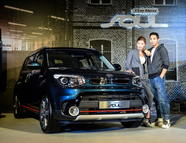 Kia Motors unveils the new Soul in Seoul on Aug. 22.