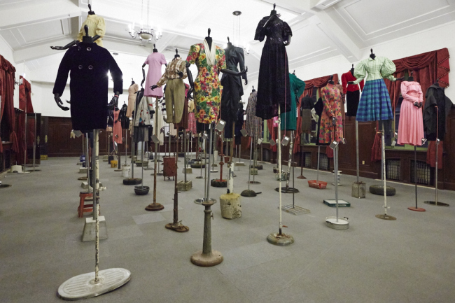 "Exhibition view of ""Mode & Moments: 100 Years of Korean Fashion"" at Culture Station Seoul 284 (Vogue Korea)"