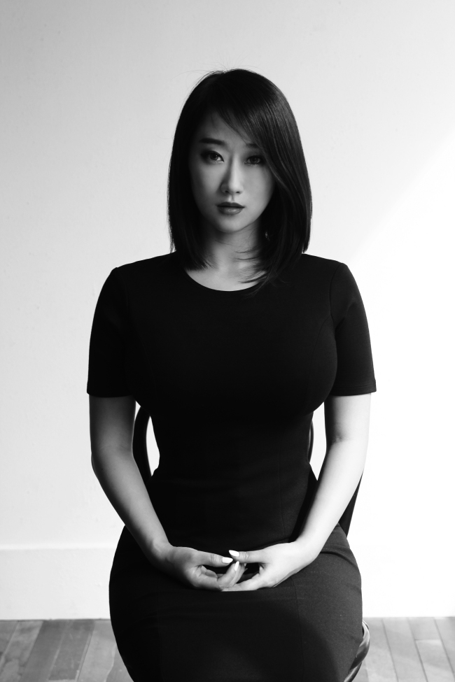 "Singer Puer Kim poses for a promotional photo of her new album ""Gem"" released Aug. 23. (Mystic Entertainment)"