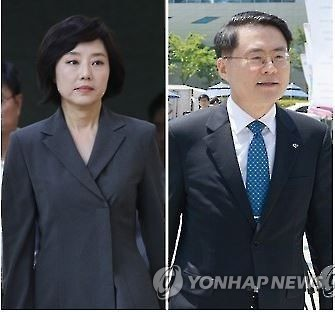 This combined photo shows new Culture Minister Cho Yoon-sun (left) and Agriculture Minister Kim Jae-soo. (Yonhap)