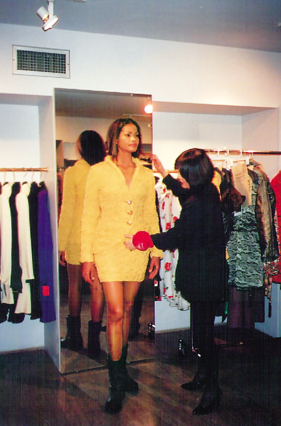 Troa Cho fits a model at her boutique on Madison Avenue, New York City. (Troa)