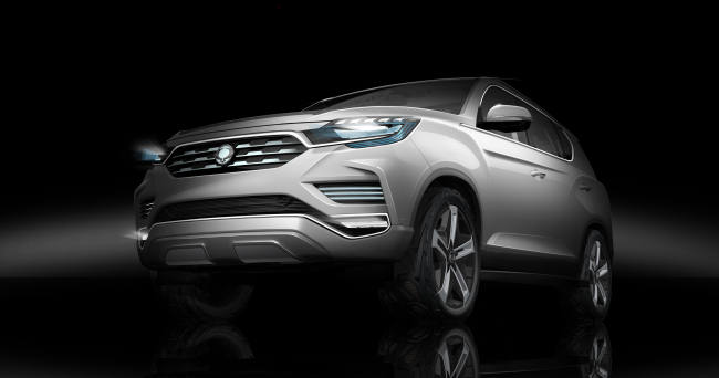Rendering image of Ssangyong Motor's concept car LIV-2